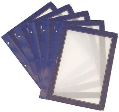 Vložky k jídelním lístkům WOOD A4, modrá (5 ks)(MC-WIA4-BU)