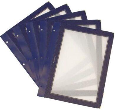Vložky k jídelním lístkům WOOD A5, modrá (5 ks)(MC-WIA5-BU)