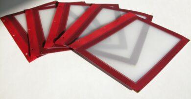 Vložky k jídelním lístkům WOOD A5, vínově červená (5 ks)(MC-WIA5-WR)