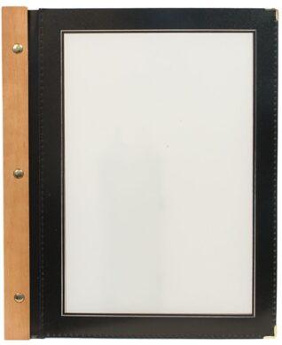 Jídelní lístek WOOD A4, černá(MC-WRA4-BL)