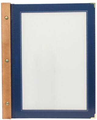 Jídelní lístek WOOD A4, modrá(MC-WRA4-BU)