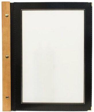 Jídelní lístek WOOD A5, černá(MC-WRA5-BL)