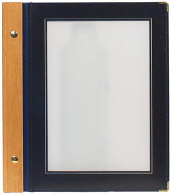 Jídelní lístek WOOD A5, modrá(MC-WRA5-BU)