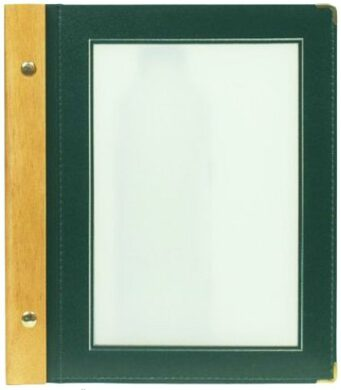 Jídelní lístek WOOD A5, zelená(MC-WRA5-GR)
