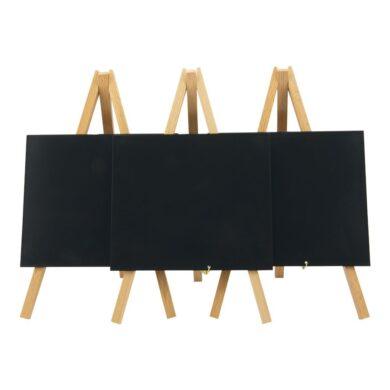 Stolní stojánek s popisovací tabulkou MINI (3ks), přírodní(MNI-B-KR)