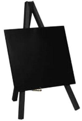 Stolní stojánek s popisovací tabulkou MINI (3ks) Černý(MNI-BL-KR)