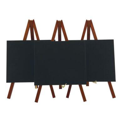 Stolní stojánek s popisovací tabulkou MINI (3ks), mahagon(MNI-M-KR)