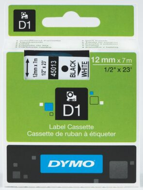 DYMO páska D1 12mm x 7m, černá na bílé(NCS0720530)