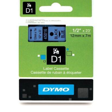 DYMO páska D1 12mm x 7m, černá na modré(NCS0720560)