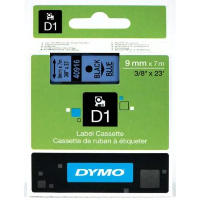 DYMO páska D1 9mm x 7m, černá na modré(NCS0720710)