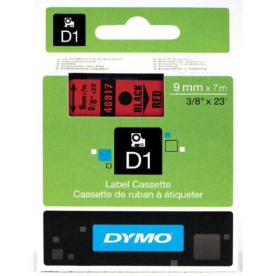 DYMO páska D1 9mm x 7m, černá na červené(NCS0720720)