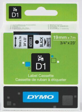 DYMO páska D1 19mm x 7m, černá na bílé(NCS0720830)