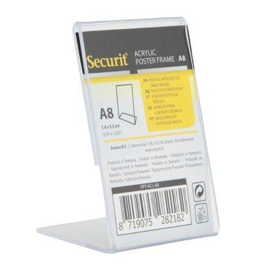 Průhledný stojánkový rámeček šikmý, A8(PFT-ACL-A8)
