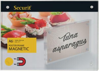 Akrylátový oboustranný A6 rámeček pro vložení plakátku se silnými magnety(PFT-MAG-A6)