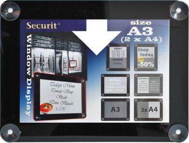 Informační rámeček na sklo A3, černý(PFW-A3-BL)