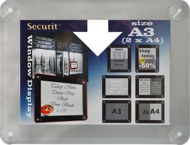 Informační rámeček na sklo A3, šedý(PFW-A3-GY)