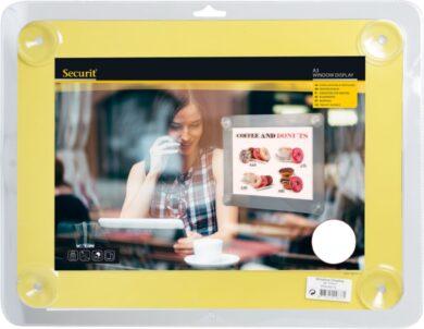 Informační rámeček na sklo A3, žlutý(PFW-A3-YE)