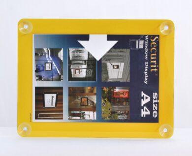 Informační rámeček na sklo A4, žlutý(PFW-A4-YE)