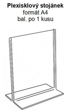 Stolní plexi stojánek A4 na výšku 305x215 mm (1 kus v balení)(PX-T-V-A4)