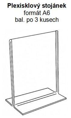 Stolní plexi stojánek A6 na výšku 150x105 mm (3 kusy v balení)(PX-T-V-A6)
