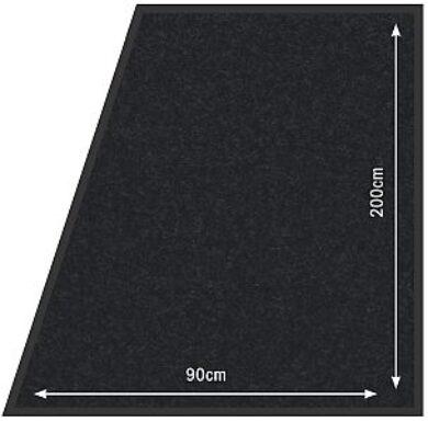 Koberec 90x200 cm k zábr. systému, černý(RS-200-BL)