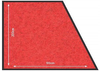 Koberec 90x200 cm k zábr. systému, červený(RS-200-RD)