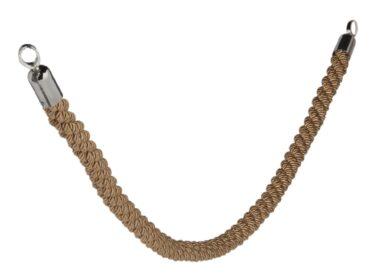 Ozdobný provaz CLASSIC s chromovanými koncovkami, bronzová(RS-CLRP-CHBR)