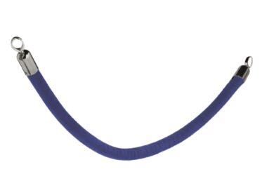 Ozdobný provaz CLASSIC s chromovanými koncovkami, modrá(RS-CLRP-CHBU)