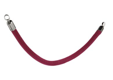 Ozdobný provaz CLASSIC s chromovanými koncovkami, červená(RS-CLRP-CHRD)