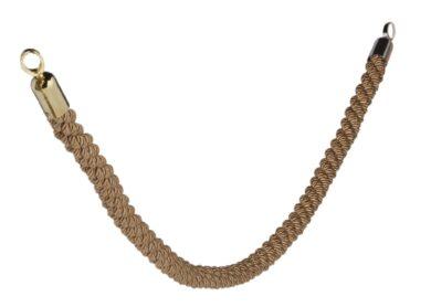 Ozdobný provaz CLASSIC se zlatými koncovkami, bronzová(RS-CLRP-GOBR)