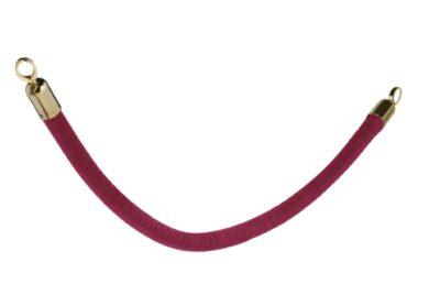 Ozdobný provaz CLASSIC se zlatými koncovkami, červená(RS-CLRP-GORD)