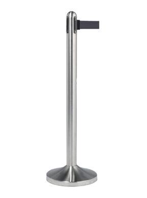 Natahovací zábranový stojan s podstavcem, nerez, černá páska(RS-RT-RVS-BL-SET)