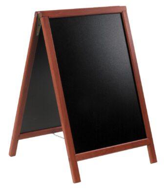 Nabídková stojanová tabule DUPLO SANDWICH 85x55 cm, mahagon(SBD-M-85)