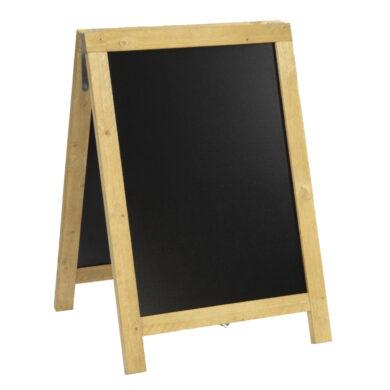 Nabídková stojanová rustikální tabule SANDWICH 85 x 55 cm, přírodní barva(SBD-N-85)