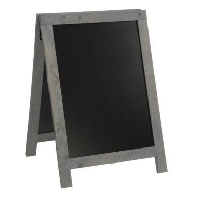 Nabídková stojanová rustikální tabule SANDWICH 85 x 55 cm, tmavě šedá(SBD-NG-85)