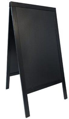 Nabídková stojanová tabule WOODY SANDWICH 125x70 cm, černá(SBS-BL-120)