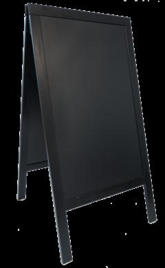 Nabídková stojanová tabule SANDWICH 75x135 cm, černá - doprodej(SBS-BL-135)