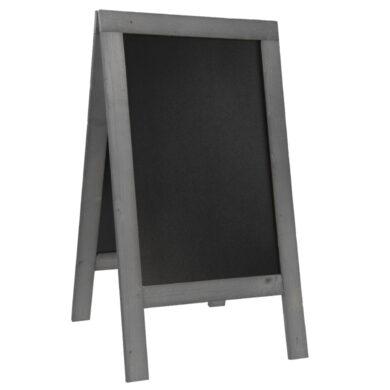 Nabídková stojanová rustikální tabule SANDWICH 135 x 72 cm, tmavě šedá(SBS-NG-135)