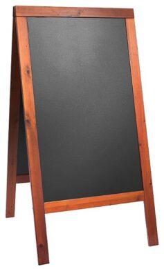 Nabídková stojanová tabule WOODY SANDWICH 125x70 cm,mahagon(SBSW-M-120)