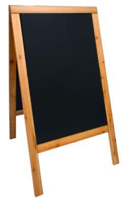 Nabídková stojanová tabule WOODY SANDWICH 125x70 cm, teak(SBSW-TE-120)