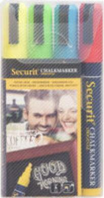 Sada 4 středních popisovačů, šířka hrotu 2-6 mm, červená, modrá, žlutá, zelená(SMA510-V4)