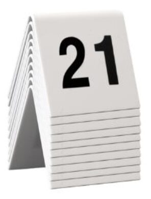 Rozlišovací tabulky s čísly 21až30 (celkem 10ks)(TN-21-30)