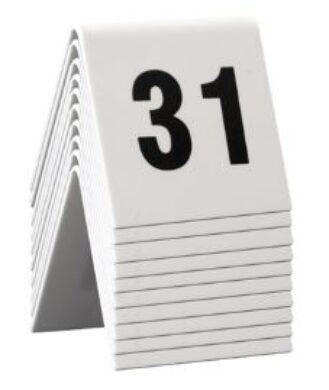 Rozlišovací tabulky s čísly 31až40 (celkem 10ks)(TN-31-40)