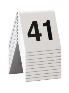 Rozlišovací tabulky s čísly 41až50 (celkem 10ks)(TN-41-50)