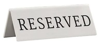 Rezervační tabulka 5ks anglicky(TN-RES-EN)
