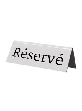 Rezervační tabulky 5ks francouzsky(TN-RES-FR-WT)