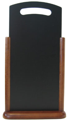 Stolná popisovací tabulka s madlem 21x45 cm, tmavě hnědá(TT-DB-LA)