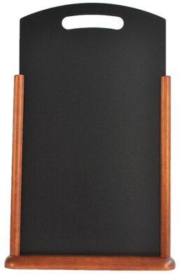 Stolná popisovací tabulka s madlem 35x53 cm, tmavě hnědá(TT-DB-XL)