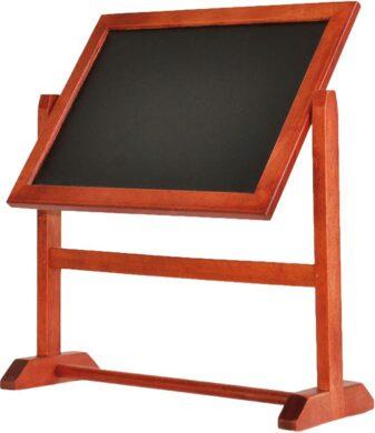 Otočná stolní popisovací tabulka A5, tmavě hnědá(TWI-M-26)