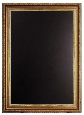 Nástěnná popisovací tabule GOLD 75x100 cm, zlatý ozdobný rám(WBC-G-105)
